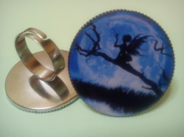 Fairy ring. Midnight Blue sky Ring. - $22.22