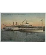 Old VTG Hand-Colored Postcard Hudson River Day Line Steamer Hendrick Hud... - $24.45