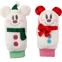 Tokyo Disney Land 2017 Mickey and Minnie with Check muffler Snow Mittens  - $29.70