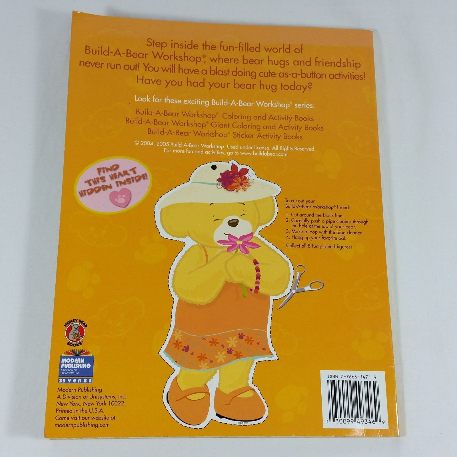 Build A Bear Workshop Giant Coloring and Activity Book Friendship Is Fur ever