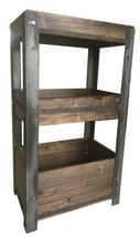 3Tier Rustic Industrial  shelf - $332.45