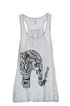 Thread Tank Artisan Elephant Women's Sleeveless Flowy Racerback Tank Top... - $24.99+
