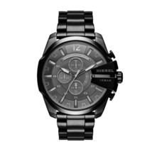 Diesel DZ4355 Mega Chief Black IP Chronograph Mens Watch - $171.64 CAD