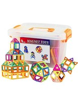 GLOUE Magnetic Blocks, Building Blocks,Magnetic Toy Contain Square, Tria... - $49.25