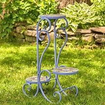 Zaer Ltd. Mosaic Tile Furniture (3 Pot Plant Stand, New Orleans Lavender) - $99.95