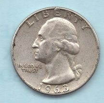 1963 D Washington Quarter - 90% silver - $8.00