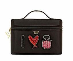 Pink Patch Weekender Train Case Black Makeup Bag New - $64.35