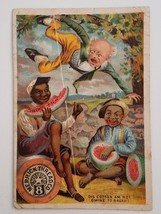 Victorian Trade Card Merrick Thread Black Americana Watermelon McConnell... - $12.95