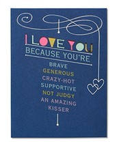 American Greetings Romantic I Love You Because Birthday Card with Foil - $6.73