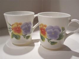 2 Corning Summer Blush Coffee Cups/Mugs - Good Condition - $12.82