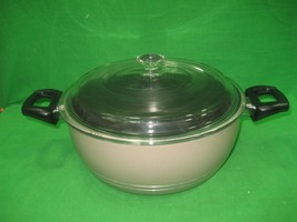 Vintage Non Stick Aluminum Cooking Pot Pan with Handles & Clear Glass Lid  - $21.46