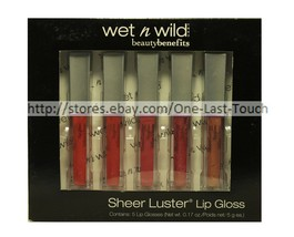 WET n WILD* 5pc Lip Gloss Box Set SHEER LUSTER Longwearing Shine SHIMMER... - $10.79