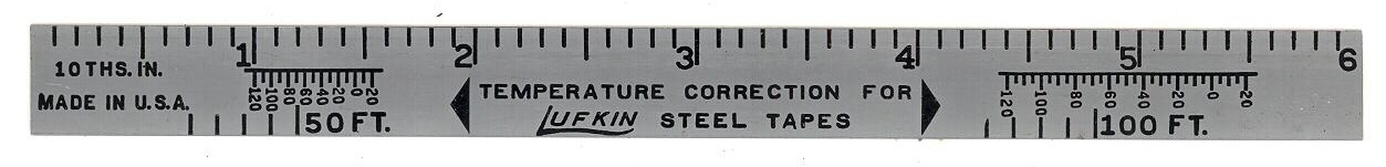 Primary image for Lafkin steel tapes vintage advertising ruler tools