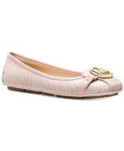 Michael Kors MK Women's Premium Designer Fulton Moccasin Flats Soft Pink