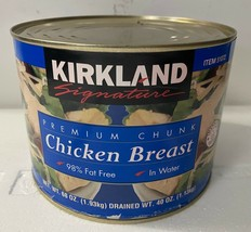1 LARGE can of Kirkland Signature Premium Chunk Chicken Breast in Water, 68 oz