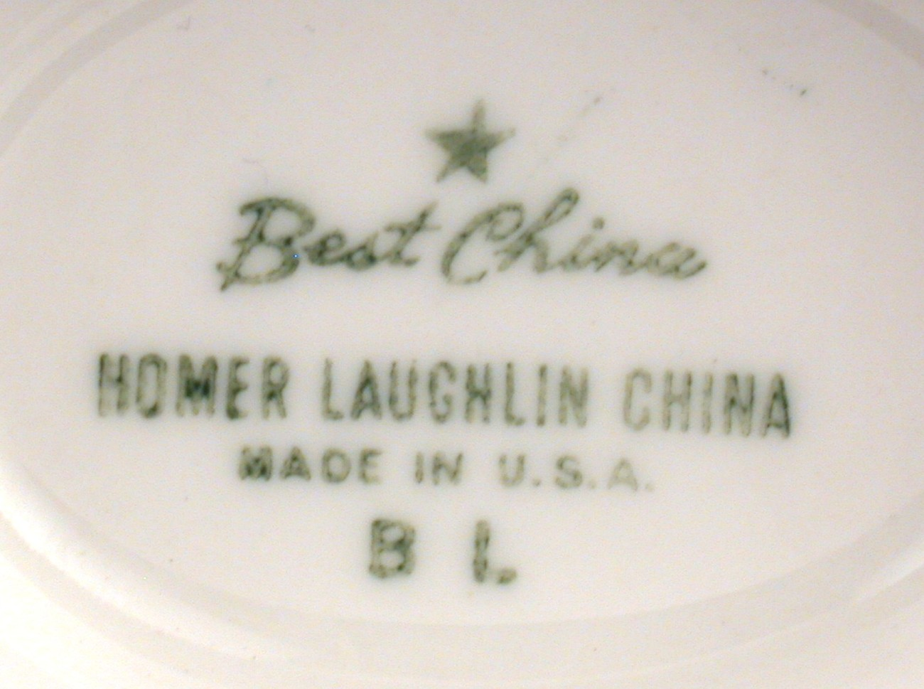 Homer Laughlin Best China Gravy or Sauce Boat Turquoise Leaves