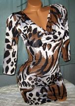 Leopard Figure Flattering Mini Dress M - $14.50