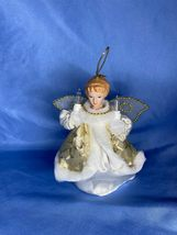 Vintage Two Light Angel Christmas Tail String Plug In Mini Tree Topper O... - $14.99