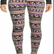 No Boundaries Ladies Halloween Soft Velour Leggings Stretch Juniors M (7... - $10.67