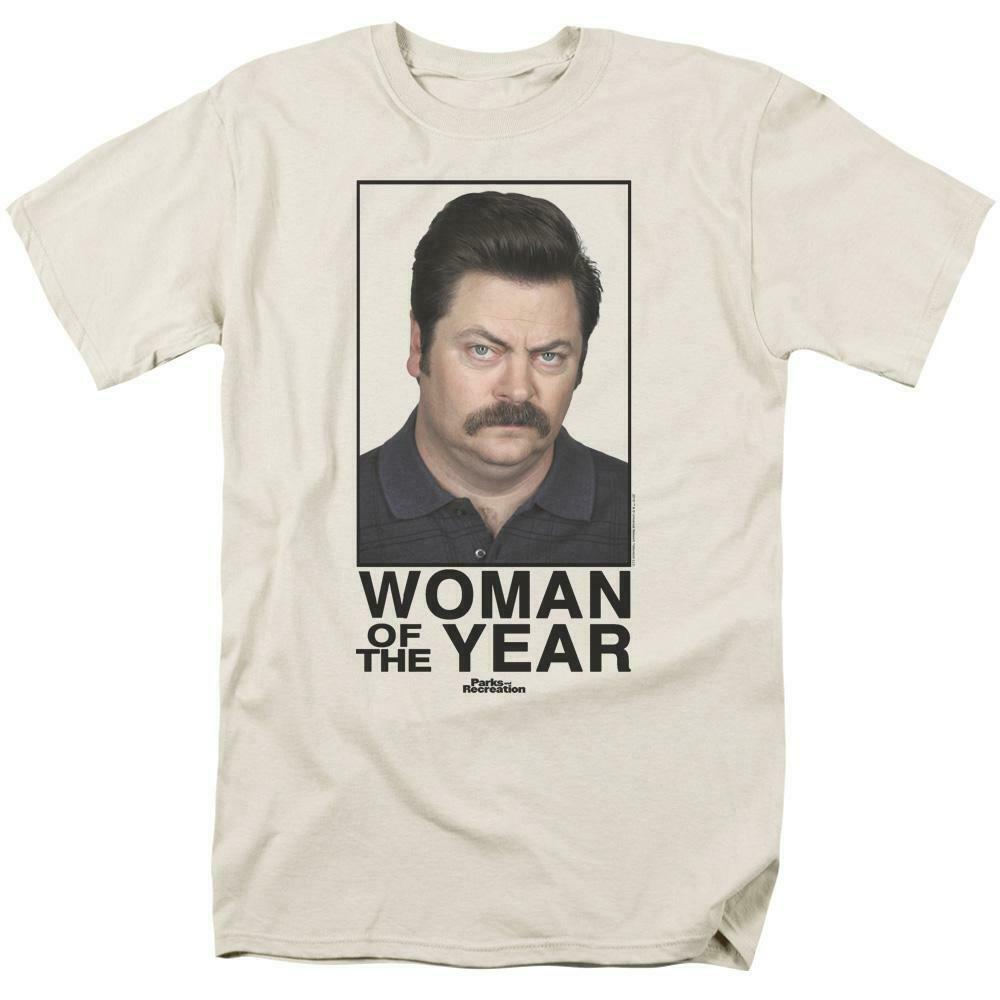 Woman of the Year Comedy T-shirt Parks and Recreation graphic tee NBC117