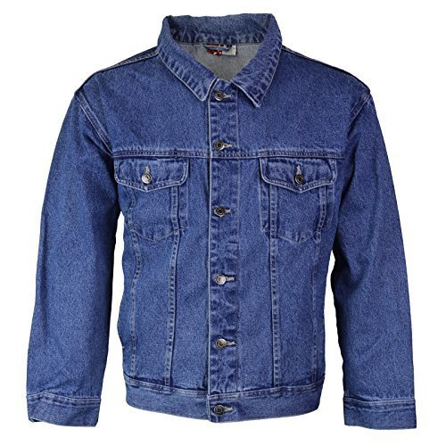 Star Jean Men's Classic Premium Button Up Cotton Denim Jean Jacket Blue (XL)