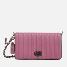 NWT Coach 22729 Nappa Leather Quilted Dinky Crossbody Primrose/PURPLE - $219.99