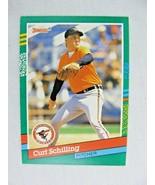 Curt Schilling Baltimore Orioles 1991 Donruss Baseball Card Number 556 - $0.98