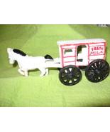 Cast Iron Toy Milk Wagon - $13.00