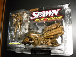 McFarlane Spawn Series Nitro Riders Green Vapor Gold Variant 1999 Sealed... - $19.99