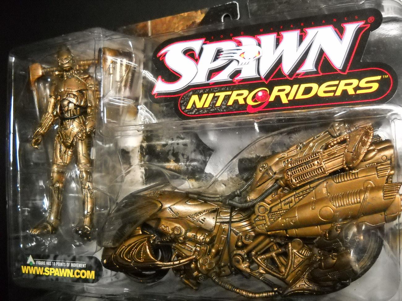 McFarlane Spawn Series Nitro Riders Green Vapor Gold Variant 1999 Sealed on Card