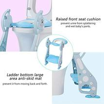 Toddler Potty Ladder Seat Toilet Step Stool for Kids Potty Training, Foldable Ad image 5