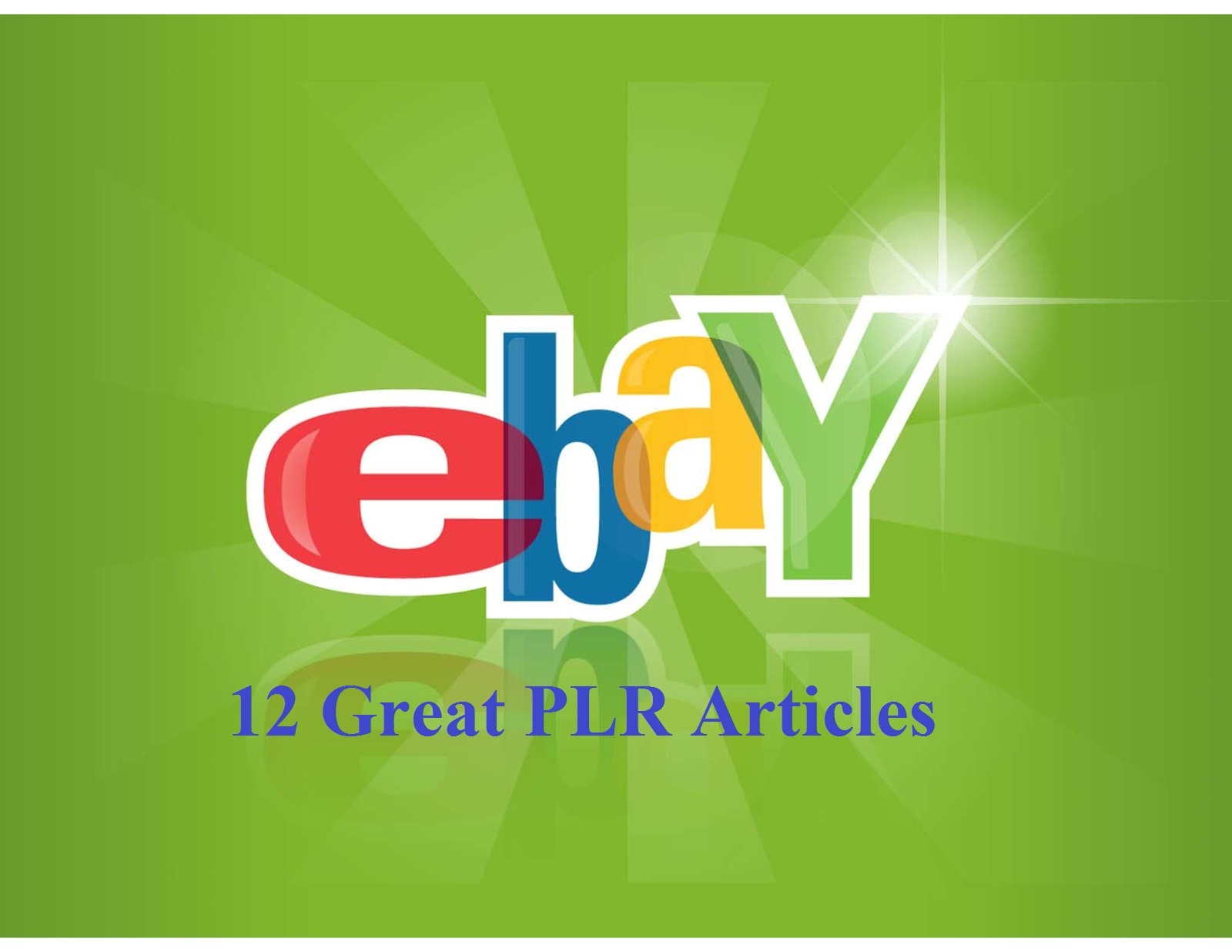 12 Great eBay PLR Articles - Get Your Copy Now!