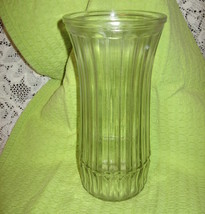 Hoosier Clear Glass Vase-Banded-#4088-C- 8 3/4 in - USA - $9.00