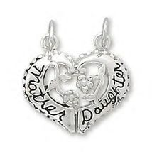 Sterling Silver Mother / Daughter Break-Away Heart Charm - $17.95