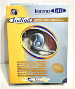 Technozone Indigo Tecno Blu Hands-Free Wireless Headset w/ Bluetooth Ada... - $39.99