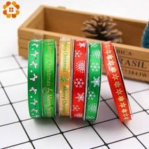 DIYHouse® 25Yard/Set Christmas Colorful Satin Ribbon Packing Tape DIY Cr... - $5.08+