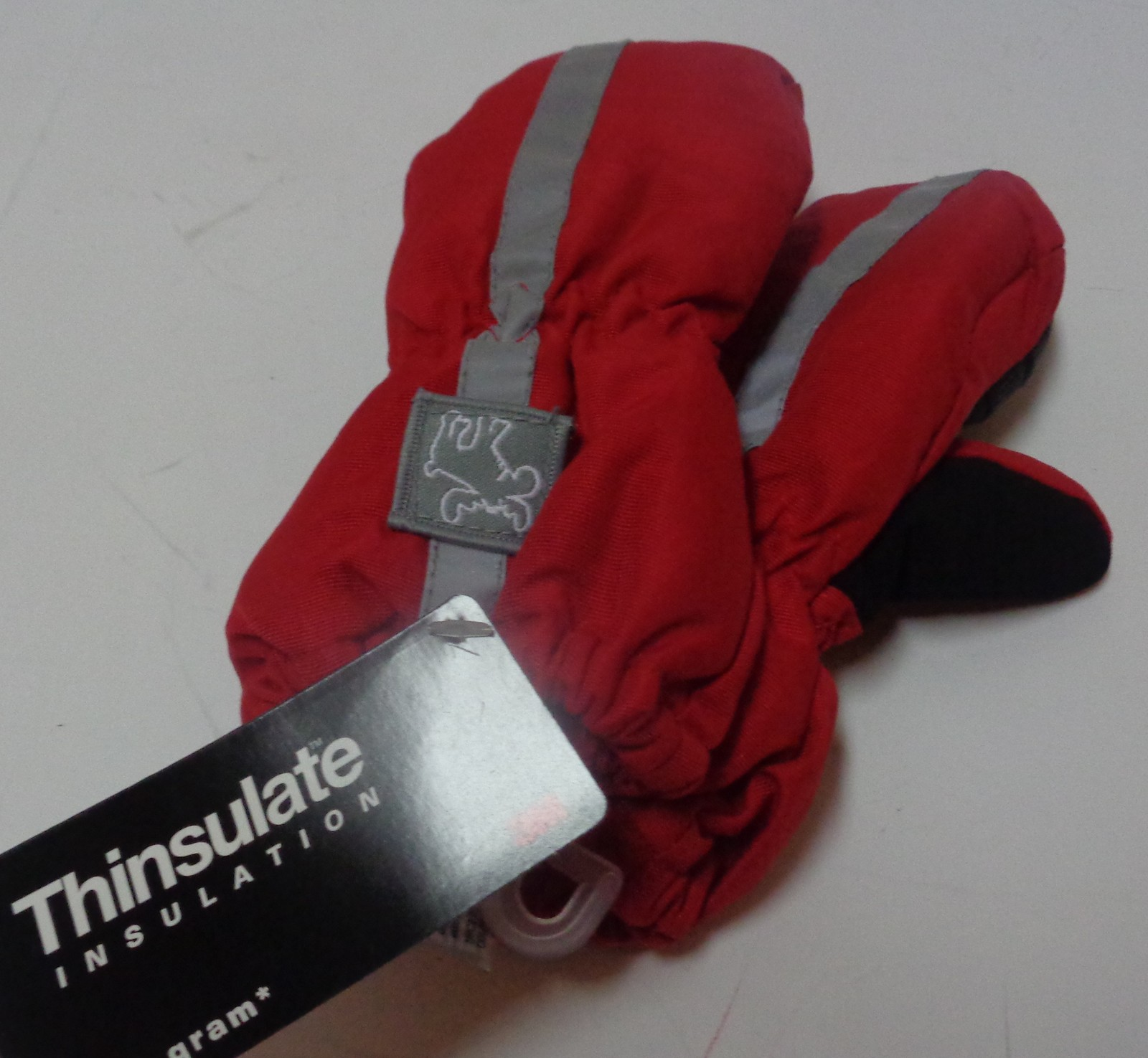 Thinsulate Insulation Youth Winter Mittens NWT 40 gram Red Gloves Faded Glory