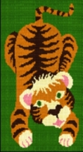 Latch Hook Rug Pattern Chart: Jen's Tiger - EMAIL2u - $5.75