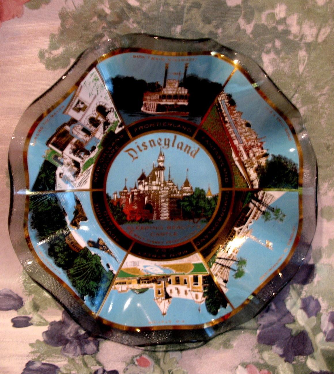 Disneyland Sleeping Beauty Castle Fantasyland Souvenir Dish