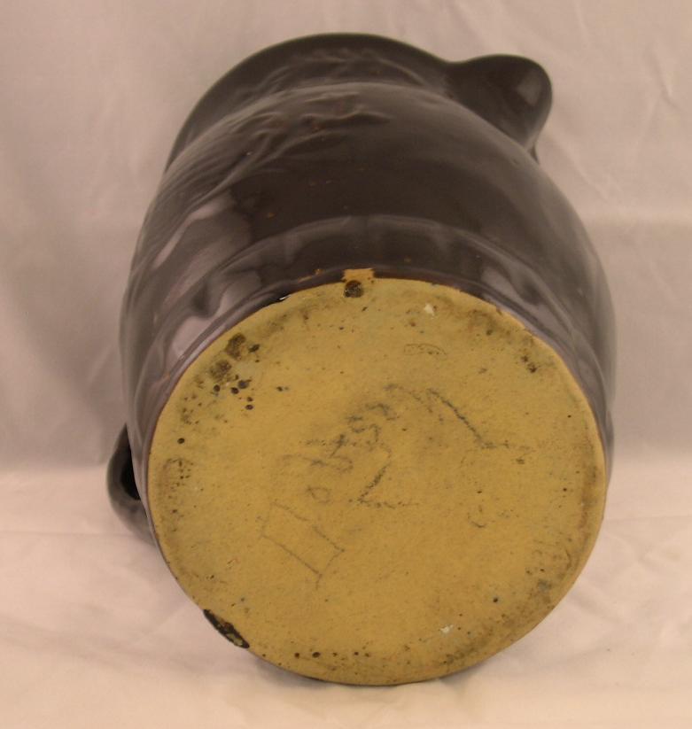 Antique Victorian Brown Glazed Stoneware Pitcher