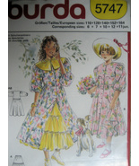 Burda 5747 Vintage 90s Pattern Girls Dress Petticoat Collar - $9.95