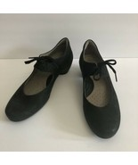 ECCO Sculptured Black Nubuck Lace Up Mary Jane Heels Size 41 US 10.5 - $37.59