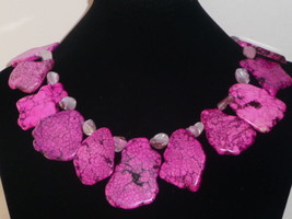 PiNk TuRQuoiSe SLiCe SheeL NeCkLaCe BiG SLaB PeNdAnT - $99.00