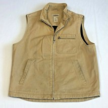 LL Bean Katahdin Iron Works Canvas Wool Blend Lined Field Vest Large Dis... - $69.99