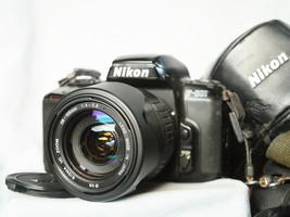 Nikon F-601 35mm SLR Camera c/w Sigma 28-105mm Zoom Lens + Hood Cased- Nice Set  - $65.00