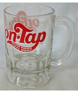 On Tap Root Beer Glass Mug Medium Red White Logo - $24.64