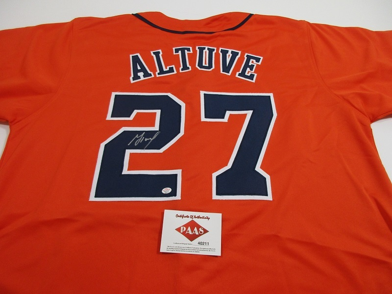 new concept 9fbe4 2fb9e JOSE ALTUVE - WORLD SERIES CHAMP - AUTOGRAPHED HOUSTON ASTROS CUSTOM JERSEY  COA