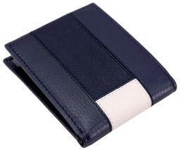 Tommy Hilfiger Men's Premium Leather Double Billfold Passcase Rfid Wallet Navy image 3