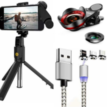 NEW Unipod Selfie Stick, Camera Lens, Magnetic Charging Cable  - $37.00