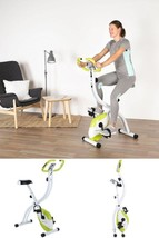 Folding Exercise Bike Home Fitness Trainer Body Training Workout LCD Dis... - $263.84